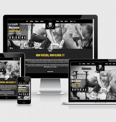 New Official CrossFit Phuket website screens for desktop & mobile
